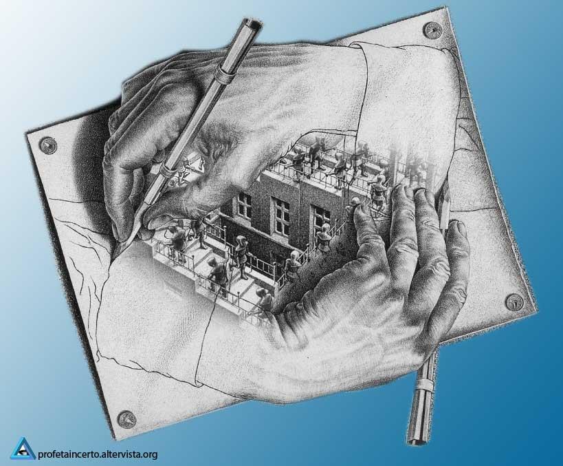 Escher - Scale che si disegnano