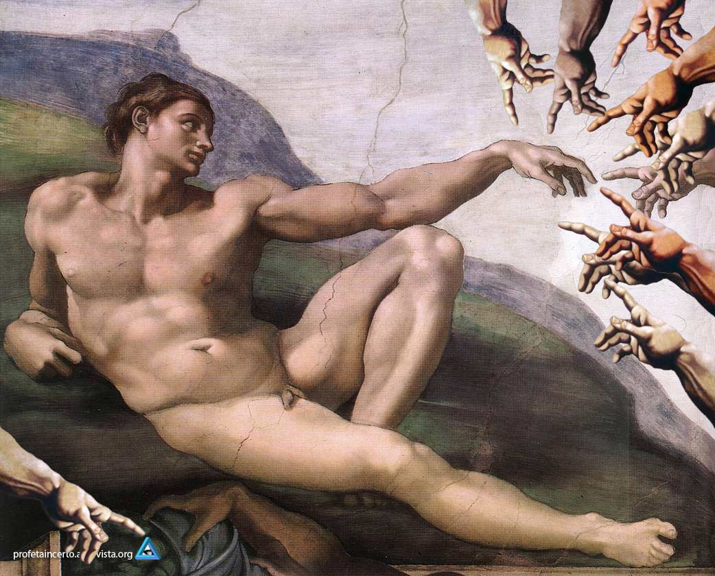 Michelangelo - The Original Cretion of Adam